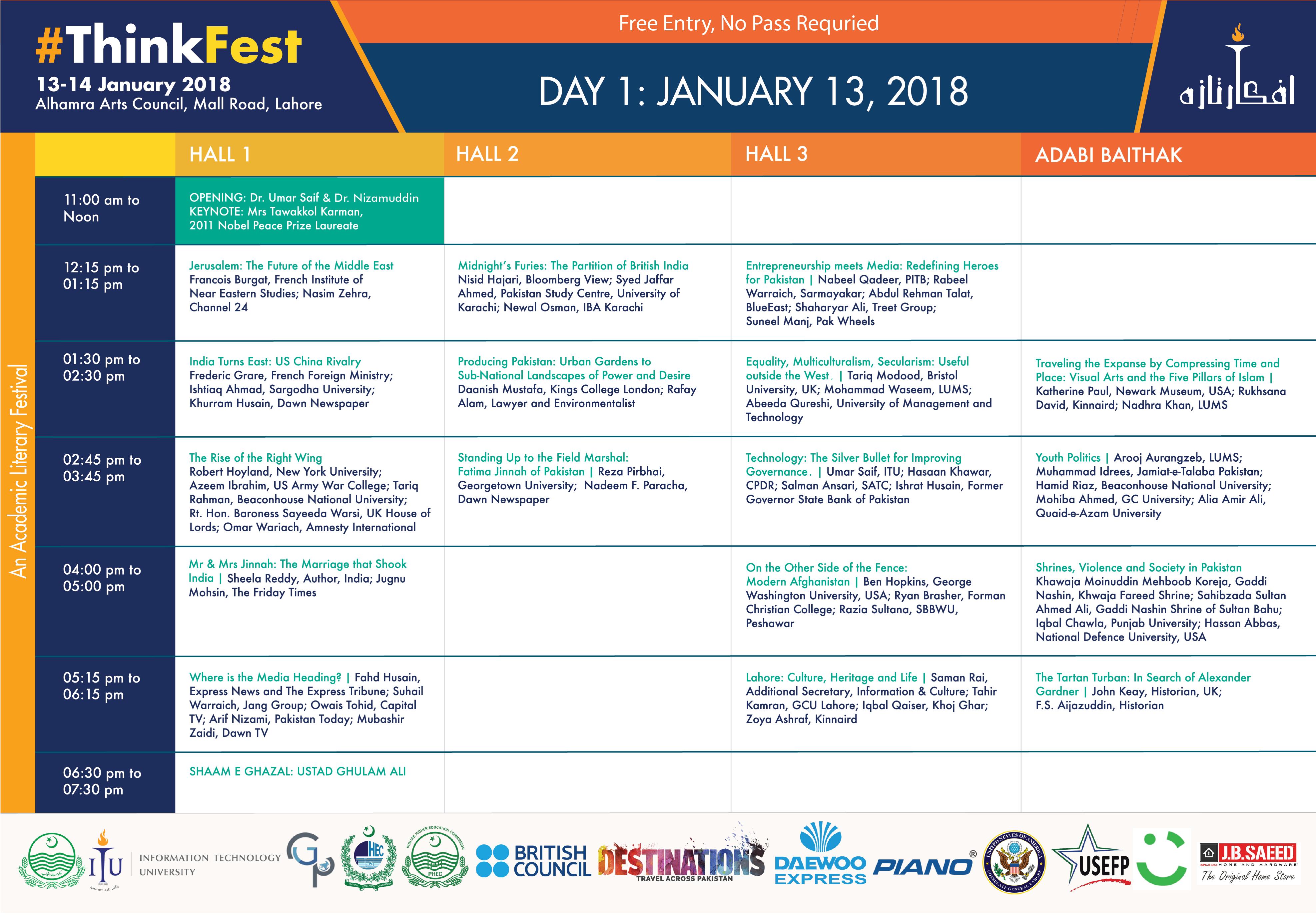 thinkfest day 1 schedule
